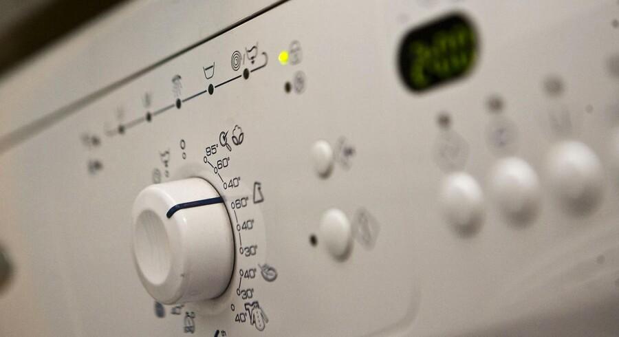 Spar på energi. Her en vaskemaskine.