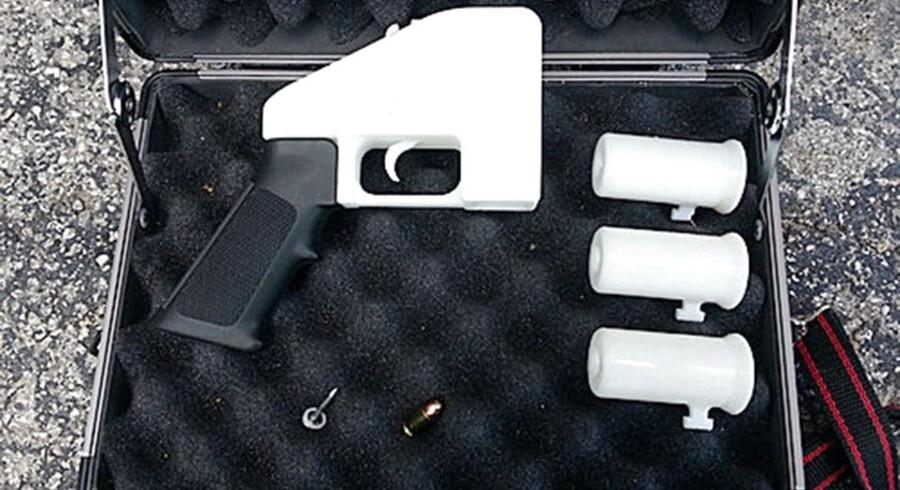 Sådan ser våbnet ud, når man har trykket 'print'.