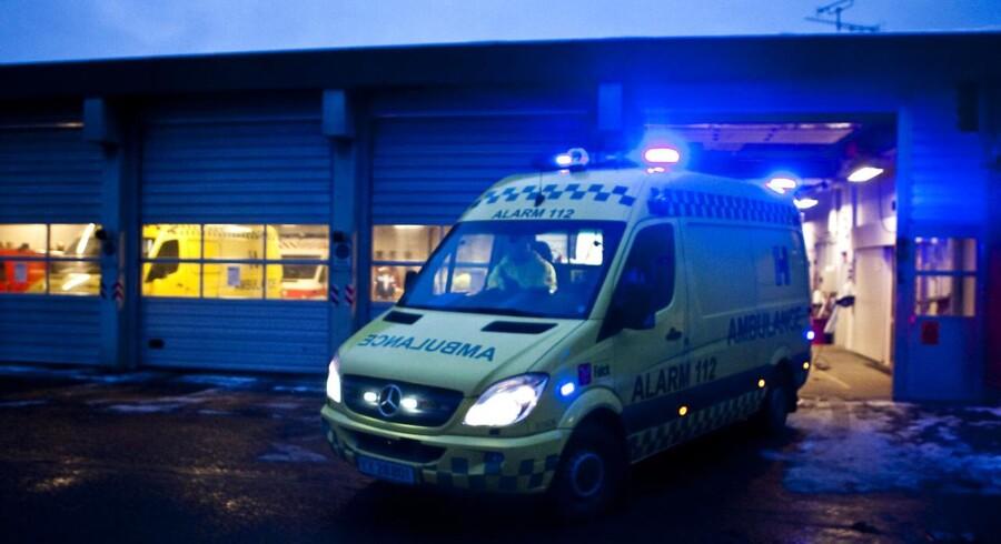 I Region Hovedstaden er ambulancekørslen steget med 19,1 pct. i løbet af et år. Det medfører øgede responstider. Arkivfoto: Anders Debel Hansen