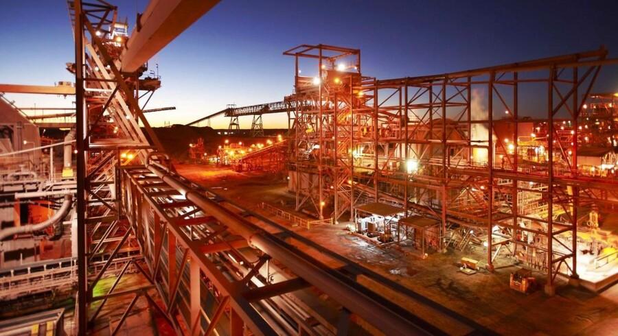 Fra Olympic Dam minen i Sydaustralien.