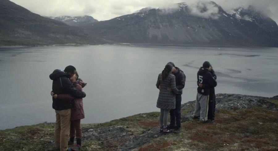 Grønlands første reality-serie, Aappariippugut, en kampagne mod kærestevold, er skabt af reklamebureauet DDB Copenhagen. Kampagnen omfatter blandt andet også en Facebook-side og et interaktivt spil med en række parforholdsdilemmaer. Foto fra reality-serien