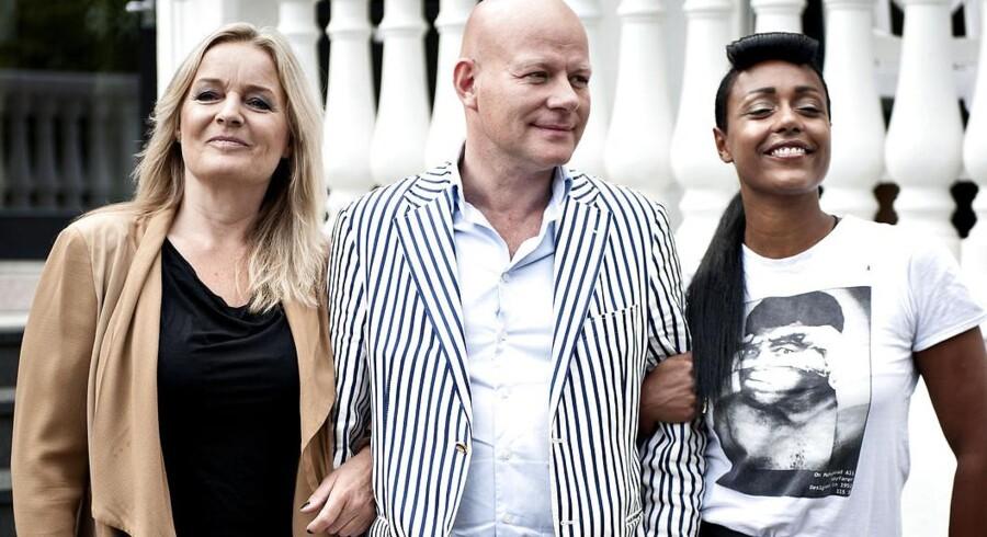 Næste sæsons X-Factor dommertrio: To nye dommere, og en gammel kending i blandt. Fra venstre Anne Linnet, Thomas Blachman og Ida Corr.