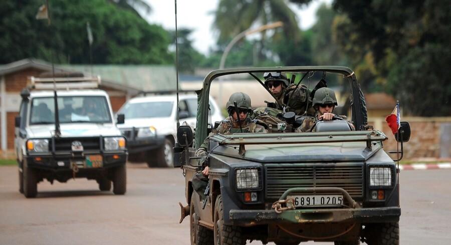 Frankse soldater patruljerer i Bangui 6. december.