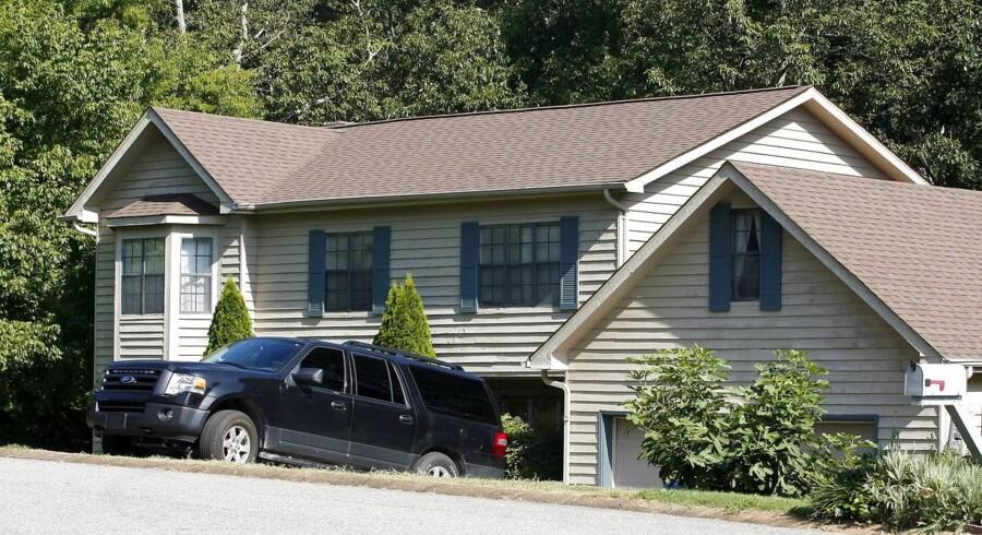 Huset, hvor den formodede drabsmand 24-årige Mohammod Youssuf Abdulazeez boede i Hixson, Tennessee.