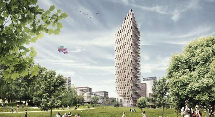 Danske tegnestuer har fået flere opgaver i Sverige - som C.F. Møller, landets største arkitektfirma, der vandt konkurrence om boligbyggeri i det central Stockholm. Animation: C.F. Møller