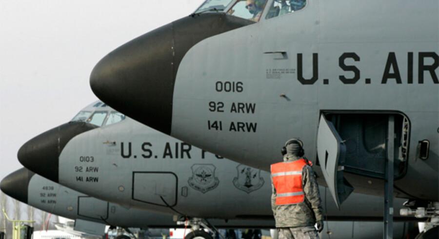 En amerikansk flybase som denne måtte lægge landningsbane til en nødlandig af et fly fra Southwest Airlines.