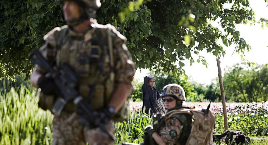I de kommende dage rejser de sidste danske kampsoldater hjem fra Afghanistan. Cirka 9.500 danske soldater har været udsendt til Afghanistan siden 2002. Arkivfoto: Søren Bidstrup