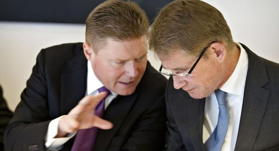 Finansdirektør Jesper Brandgaard og koncernchef Lars Rebien Sørensen fastholder de langsigtede mål for Novo Nordisk.
