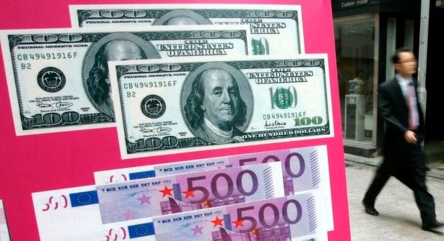Dollarkursen er under hårdt pres, og en dollar kan nu købes for blot 5,16 kr.