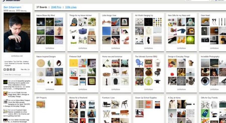 Pinterest bruges i undervisning i udlandet