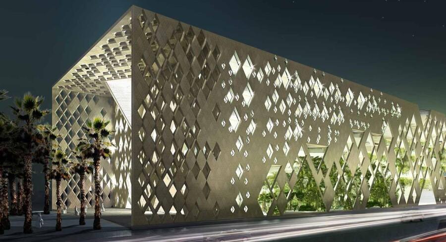 Institute of Diplomatic Studies I Riyadh,Saudi Arabien. Illustration: Henning Larsen Architects