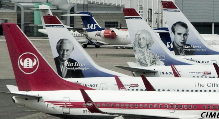 Den Islandske askesky har lammet flytrafikken i Europa. Også i Københavns Lufthavn i Kastrup lørdag middag 17. april 2010.