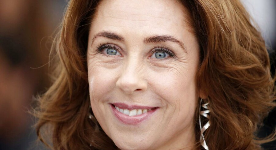 Sofie Gråbøl, da hun i maj var med til at lancere Lars von Triers nye film i Cannes.