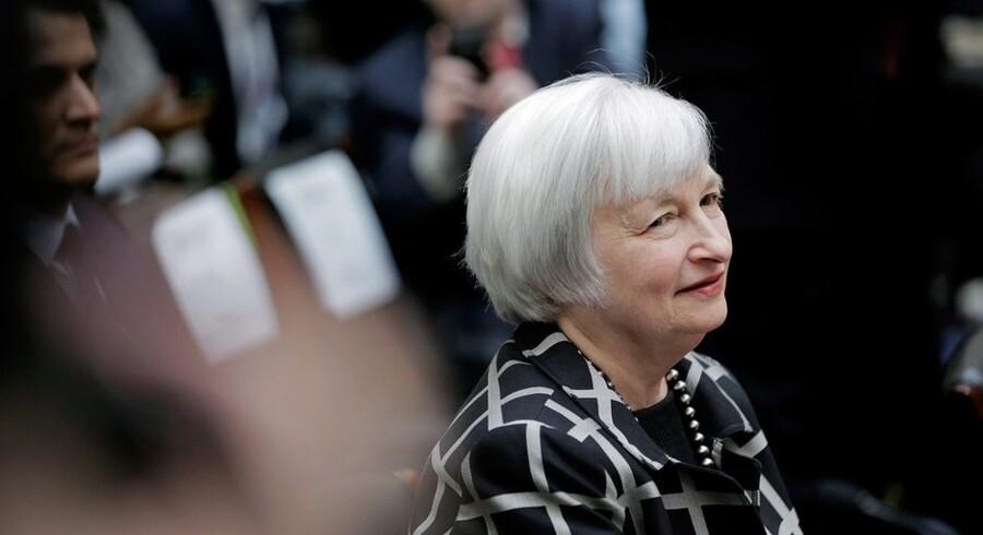 Nedturen ramte også de rige områder, som Yellen påpegede med masser af sarkasme på et møde den 16. september, dagen efter Lehman Brothers' konkurs. Foto: T.J. Kirkpatrick/AFP
