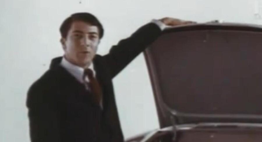 Dustin Hoffman kunne i 1967 ses i denne VW-reklame.