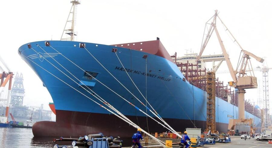 Verdens største containerskib, Mærsk Mc-Kinney Møller, kommer ifølge tidligere rapporter ikke til at sejle med fuld belægning for at beskytte shipping raterne.
