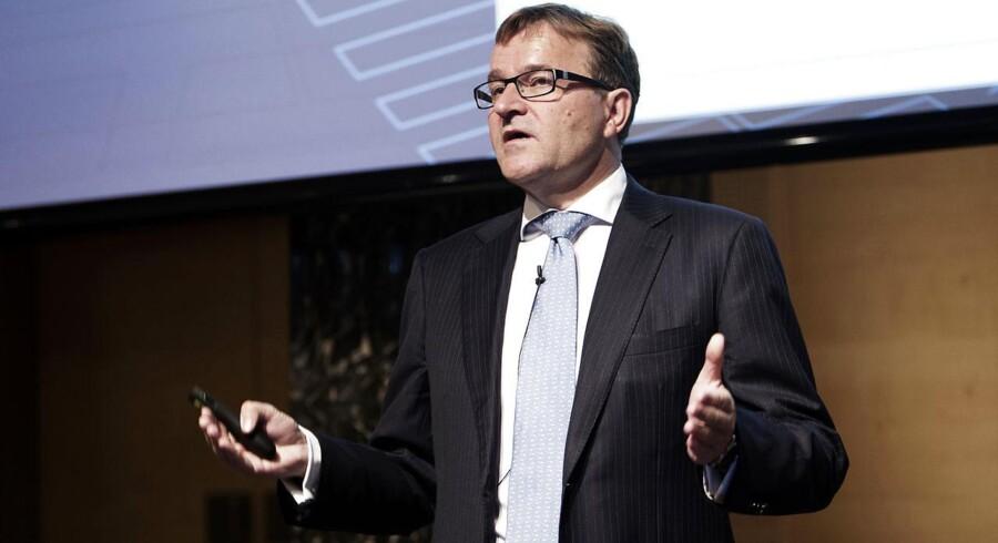 Danske Banks årsregnskab indeholdt en nedjustering på en milliard kroner - men de positive aspekter i tallene fik aktien til at eksplodere på børsen.