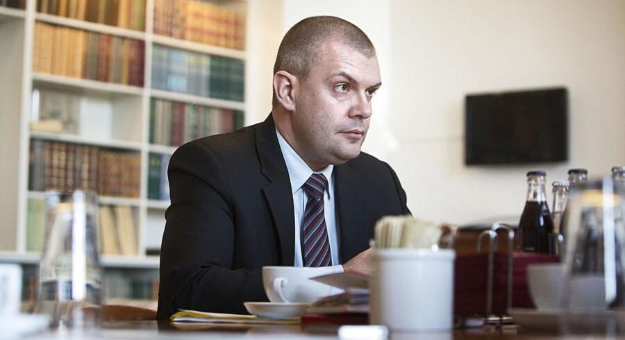 ARKIVFOTO. Finansminister fra Socialdemokraterne, Bjarne Corydon, på sit kontor i Finansministeriet.