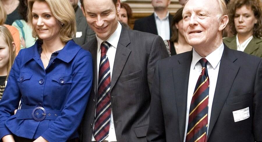 HelleThorning Schmidt, Stephen og Neil Kinnock.