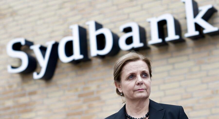 Adm. direktør i Sydbank Karen Frøsig er godt tilfreds med udviklingen i banken.