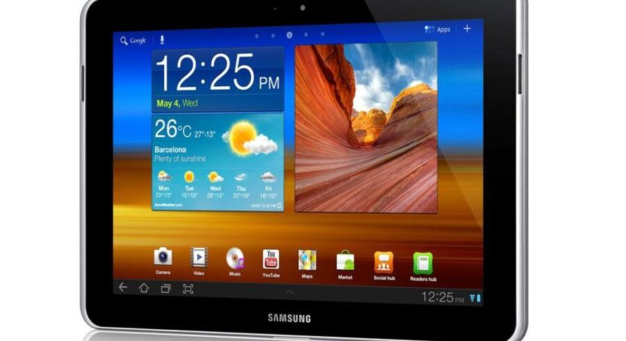 Galaxy Tab 10.1, som er iPads største konkurrent, kan nu igen sælges i Australien, så Samsung får den vigtige julehandel med. Foto: Samsung