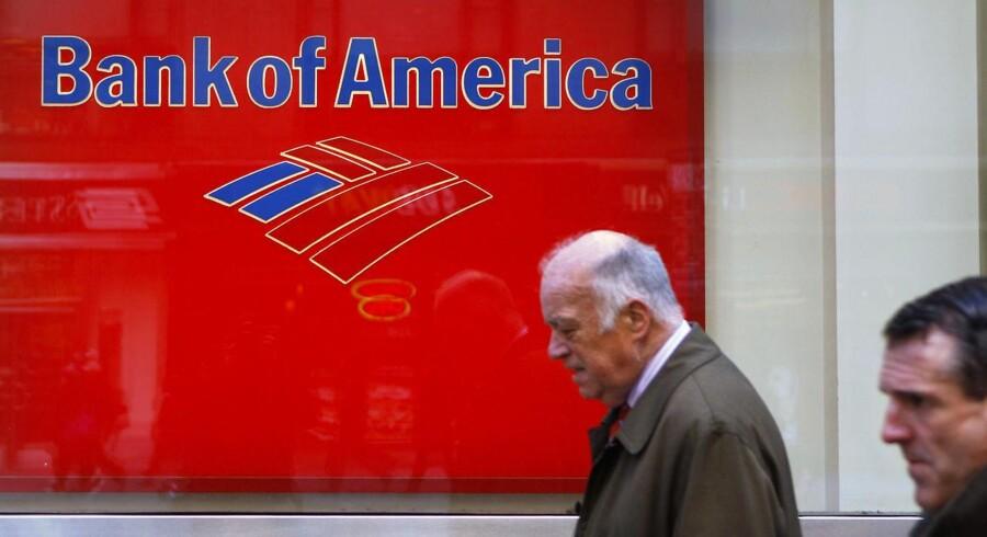 Bank of America er en af de mange banker, der er blevet nedgraderet af kreditvurderingsinstitutterne.