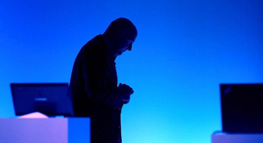 Microsofts topchef, Steve Ballmer, i dyb koncentration i forbindelse med præsentationen af selskabets største satsning, Windows 8, i oktober. Arkivfoto: Justin Lane, EPA/Scanpix