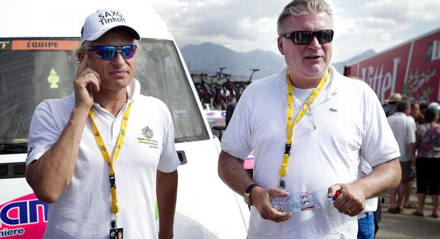 Otte års sponsorat i professionel cykelsport kan være forbi for danske Saxo Bank - indsprøjtningen er ikke længere nødvendig for Oleg Tinkov, der regner med at gå solo næste år.