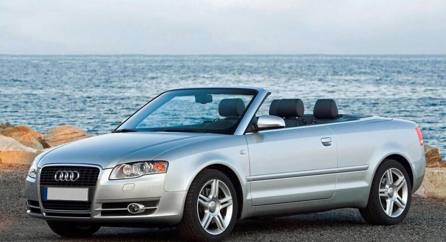Audi A4 cabriolet til godt 270.000 kroner, en Mazda MX5 til lige over 100.000 kroner og en Peugeot 206CC fra 2001 til omkring 60.000 kroner. »Der er med andre ord åbne biler lige nu til ethvert budget,« siger han.