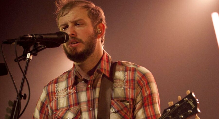 Forsanger Justin Vernon styrer det amerikanske band Bon Iver, som gæstede Falconer Salen i november.