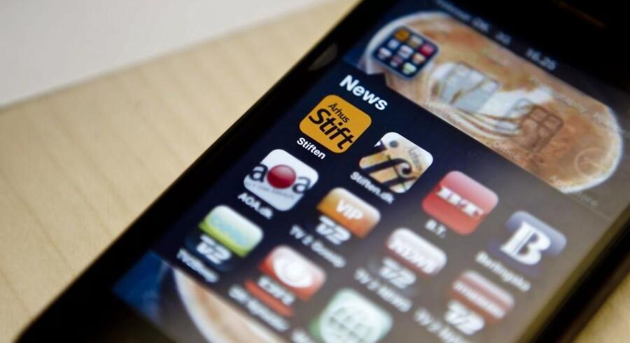 Den nye Stiften Apps til Iphone (Foto Martin Ballund)