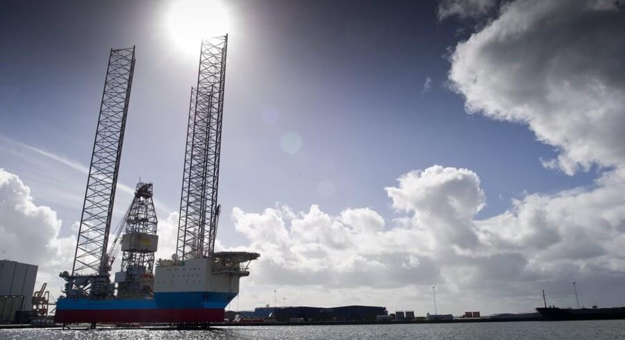 Maersk Drilling er kommet i en situation, hvor olieselskaberne drosler ned for udforskningen af nye oliefelter samtidig med, at Maersk er ved at øge sin borerigskapacitet. Arkivfoto: Claus Fisker