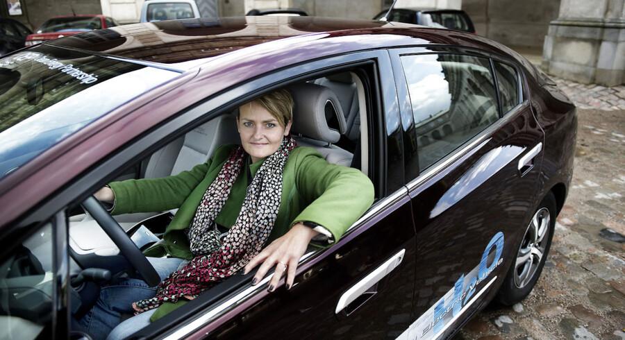 Pernille Rosenkrantz-Theil rullede en tur i en brintbil.