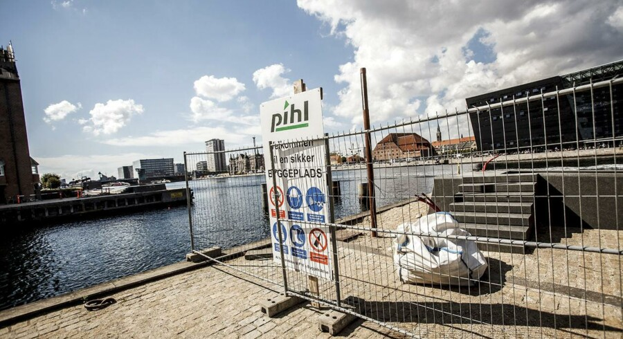 Brobyggerierne ved Københavns Indre Kanaler er ét af de byggeprojekter, der har ligget stille siden Pihl & Søns konkurs.