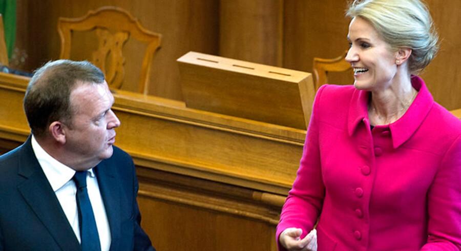 Lars Løkke Rasmussen og Helle Thorning-Schmidt: Ingen kommentarer!