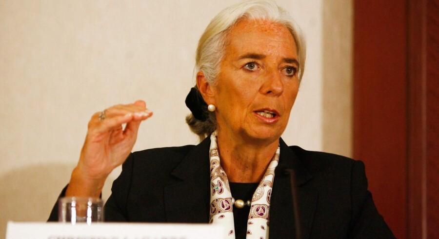 Den Internationale Valutafond, med Christine Lagarde i spidsen, er på vej med højere globalt vækstskøn