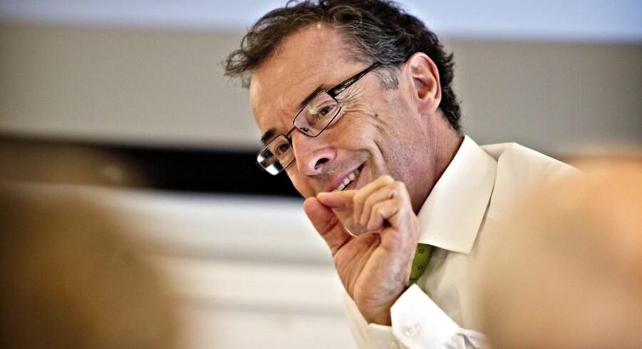 Mads Krogsgaard Thomsen, Novo Nordisks øverste forskningschef, troede godkendelsen af Tresiba i USA var i hus, da selskabet fremlagde årsregnskab 31. januar 2013. Siden har myndighederne i USA sagt nej til produktet, mens Mads Krogsgaard stadig tror så meget på Tresiba-produktfamilien, at han er klar til at gennemføre hjertekar-studier af produktet uanset prisen. Foto: Nils Meilvang