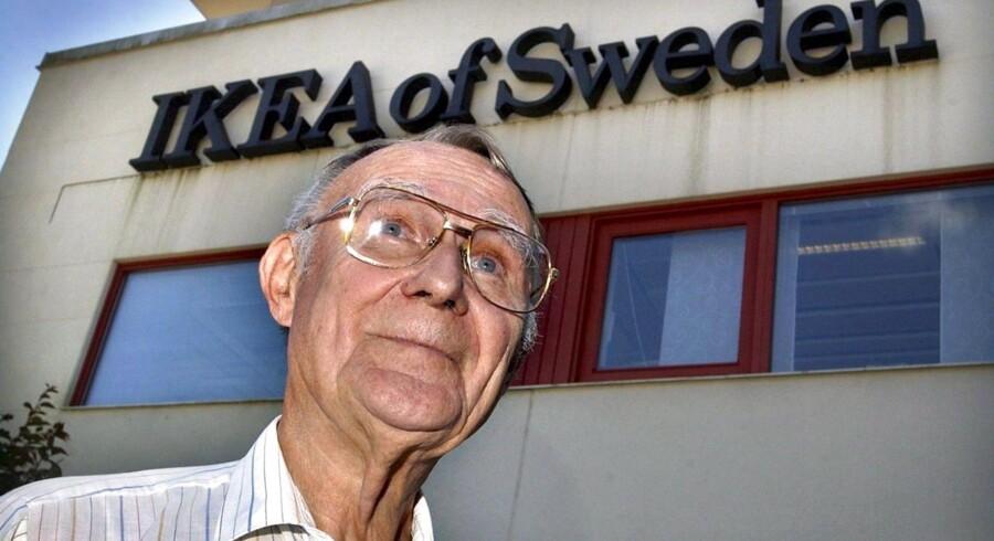 Ikea grundlæggeren Ingvar Kamprad overdrager sine Ikano fonde til danske Sparinvest.