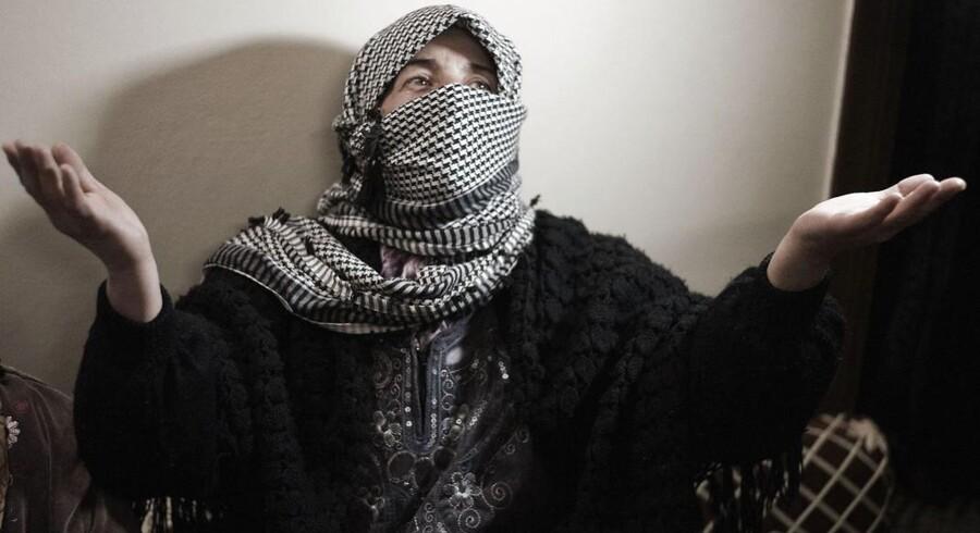 Helle Thorning-Schmidt mener ikke, at EU har gjort nok for at hjælpe folk som denne syriske kvinde.