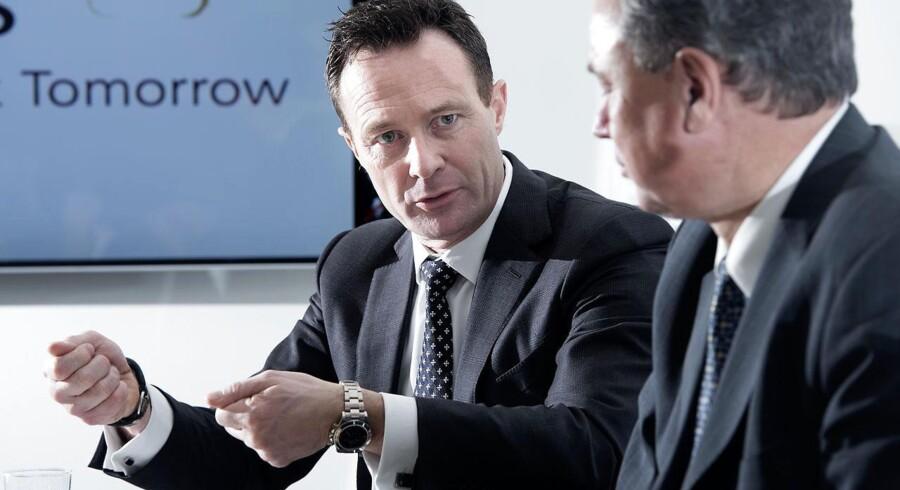 Novozymes' finansdirektør Benny D. Loft (til venstre) og koncernchef Peder Holk Nielsen er blandt de ledende medarbejdere, der har fået aktiebonusser.