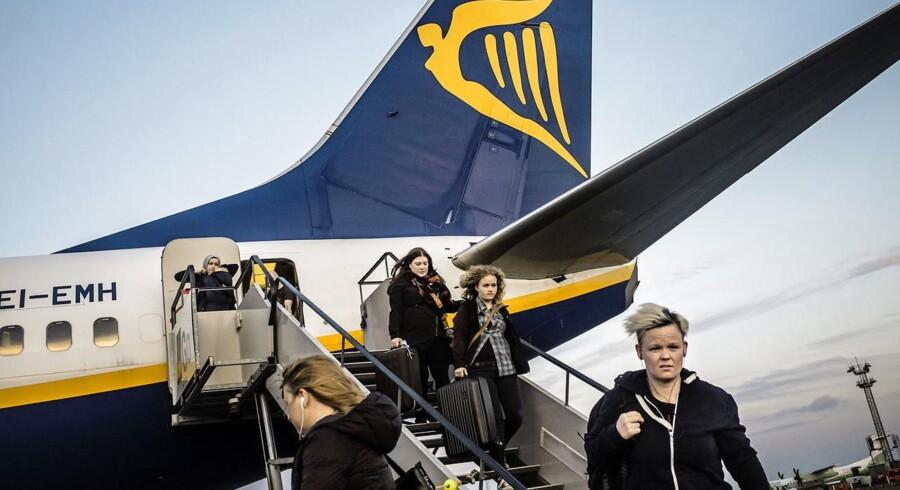 Ryanair dropper basen i København men fortsætter med at betjene ruterne fra udenlandske baser. Arkivfoto.