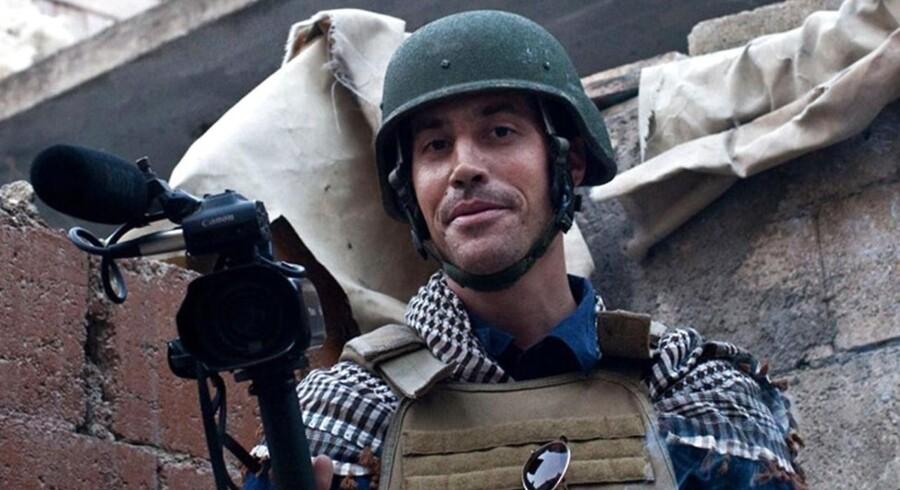 Den amerikanske freelancejournalist James Foley - her fotograferet i Aleppo i Syrien den 5. november 2012.