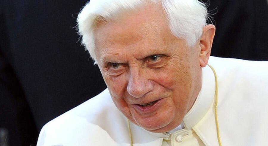 """Pave Benedict XVI har tidligere kaldt finansverdenen """"selvcentreret"""" og """"kortsigtet""""."""