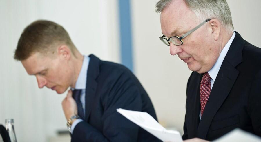 DONG-chef Henrik Poulsen (til venstre) er ved at rydde op i den gassatsning, som bestyrelsen med Fritz Schur som formand satte i gang i 2006.