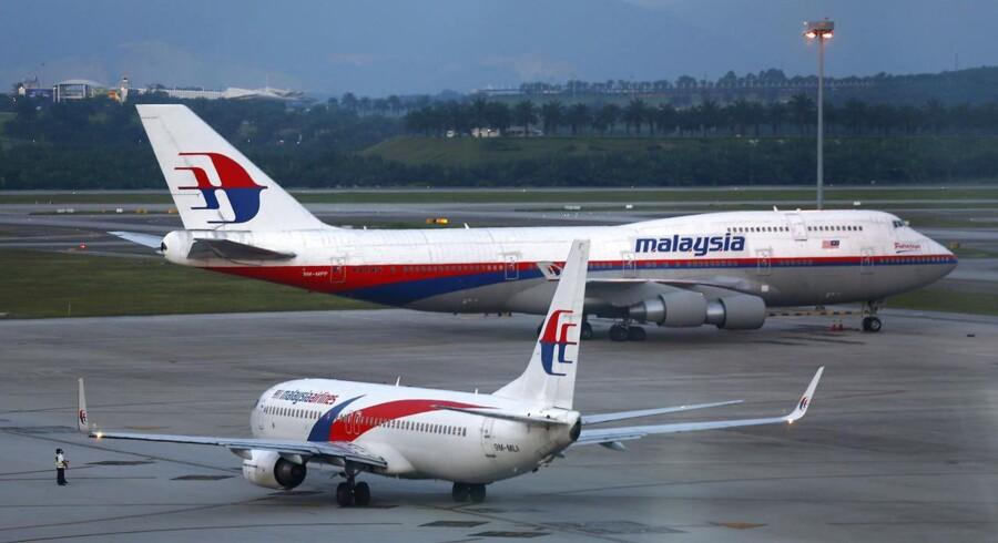 Arkivfoto af Malaysia Airlines Flight MH370, der på mystisk vis forsvandt den 8. marts.