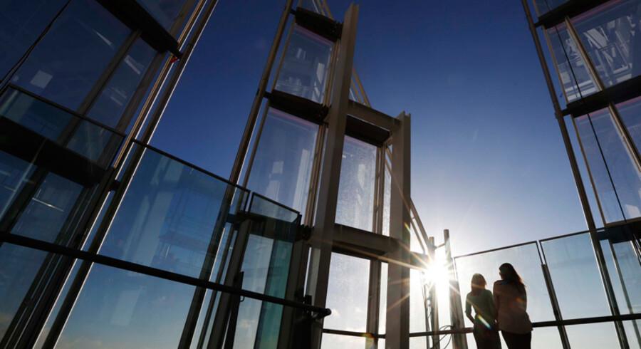 The Shard under opbygning under OL i London.