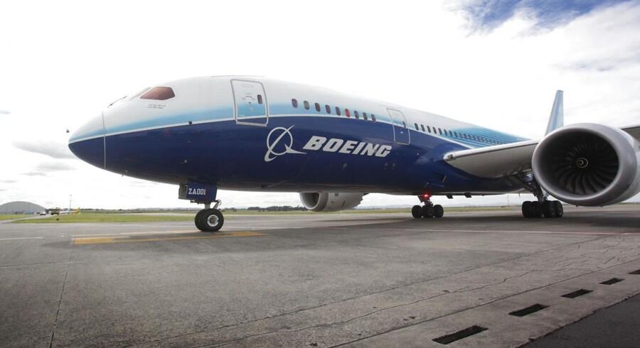En Boeing 787 Dreamliner på landjorden. Ikke et sjældent syn i disse dage.