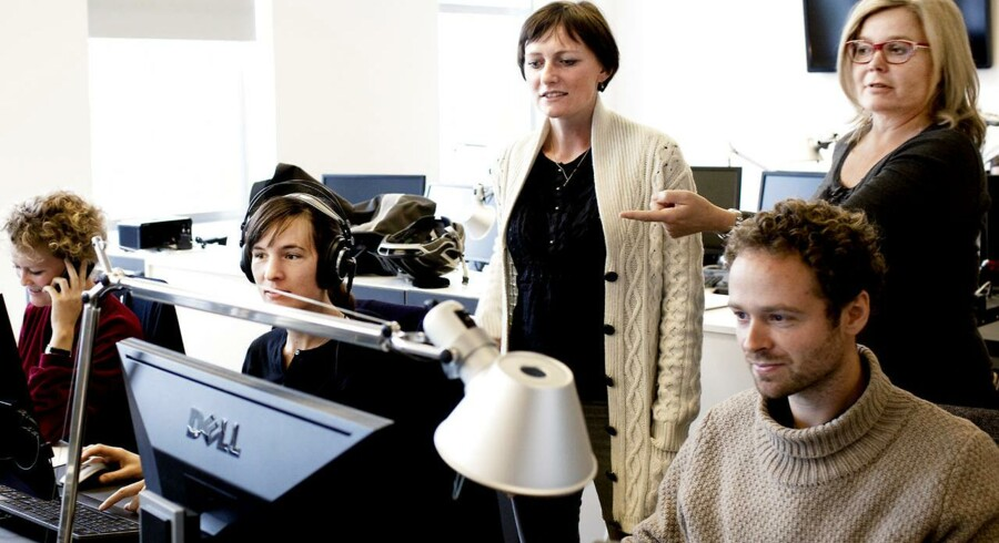 ARKIV- -Suzanne Moll (th) stopper som chefredaktør på Radio24Syv (Foto: Claus Bech/Scanpix 2012)