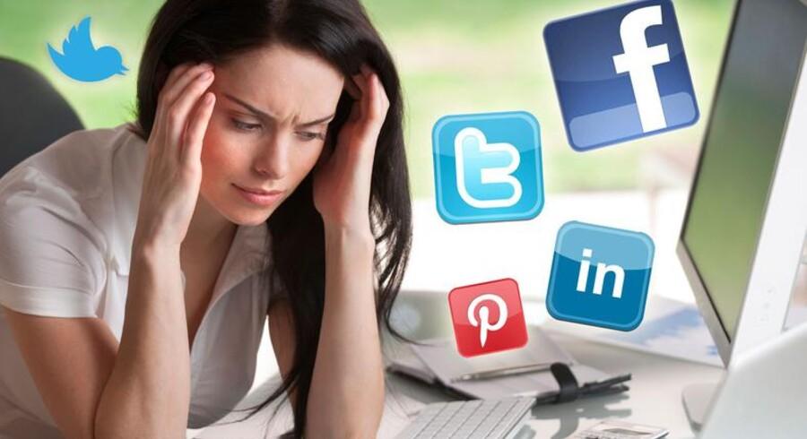 Hensynsløs brug af sociale medier på arbejdet kan føre til store problemer både for dig selv og virksomheden. Foto: Istockphoto