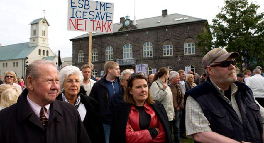 3.000 islændinge demonstrerede mod et kontroversielt lovforslag.
